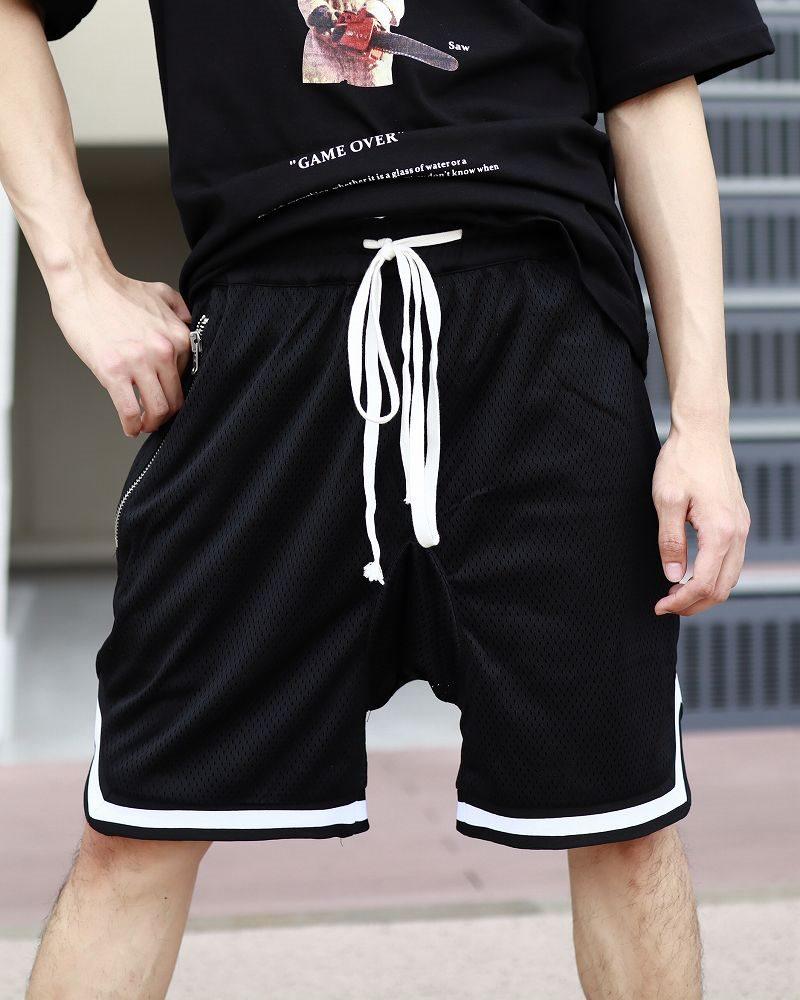 バスケットサルエルメッシュショートパンツ ハーフパンツ メンズの商品画像1
